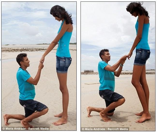 mujer de dos metros se casa
