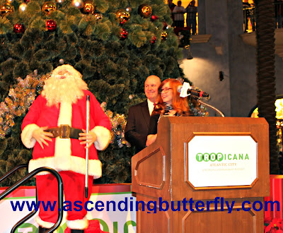 Santa Laughing at Tropicana Atlantic City Casino 2015 Holiday Tree Lighting