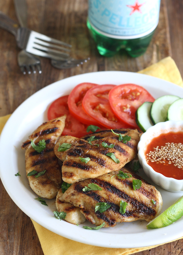 Thai Grilled Chicken with Sweet Chili Dipping Sauce by SeasonWithSpice.com