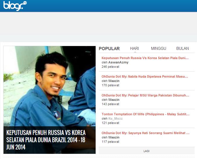 Gambar aku di laman ping Blogr.my