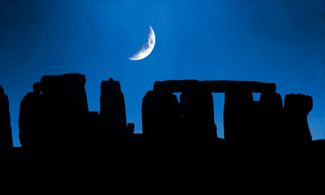 Moon Over Stonehenge