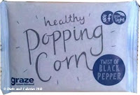 Graze black pepper pop corn