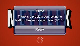Netflix error screen capture