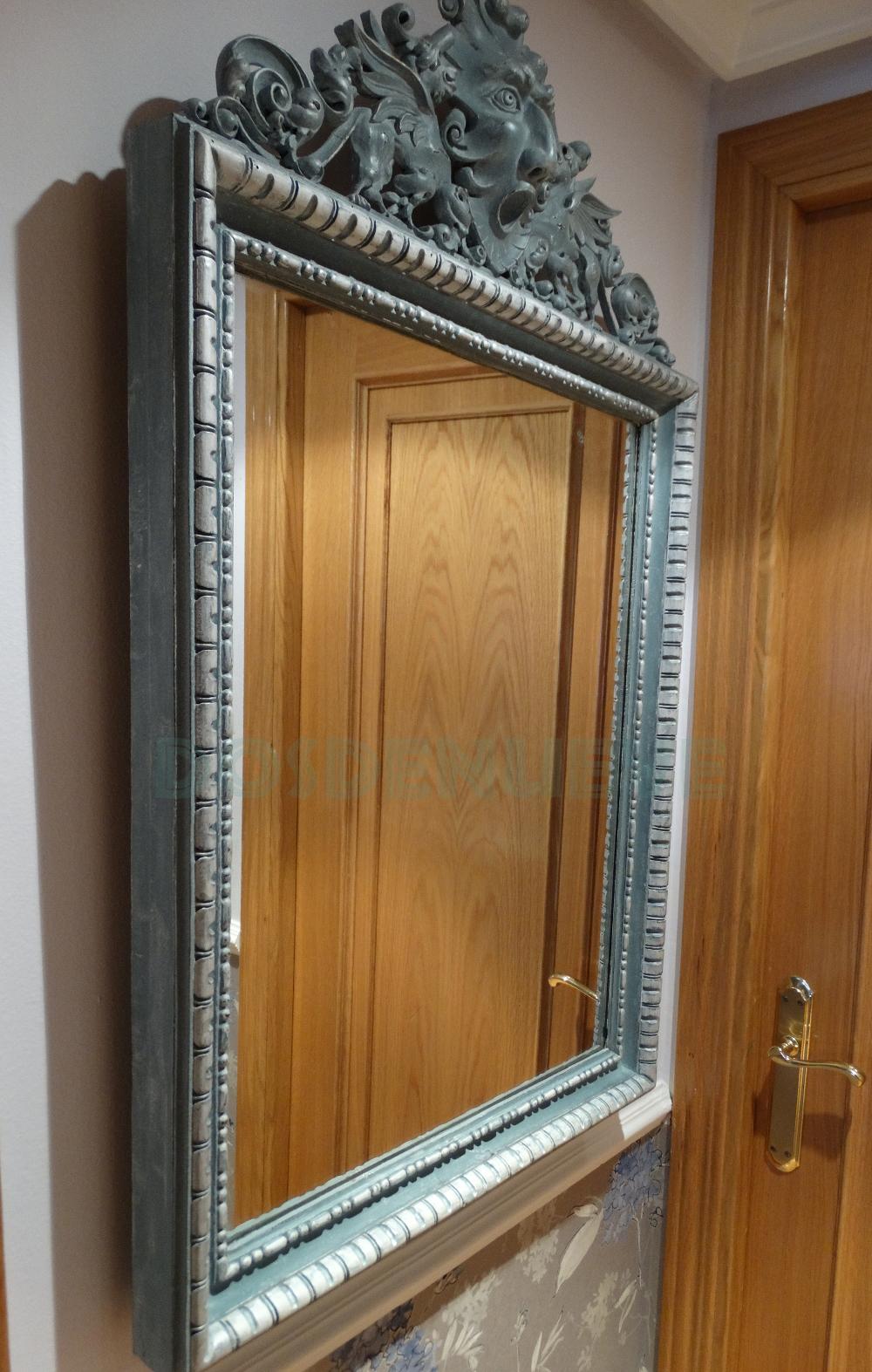 Pintando un espejo antiguo - Espejos antiguos de pared ...