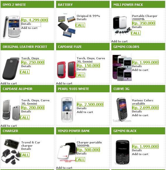 Cek Harga Blackberry Oktober 2012-update