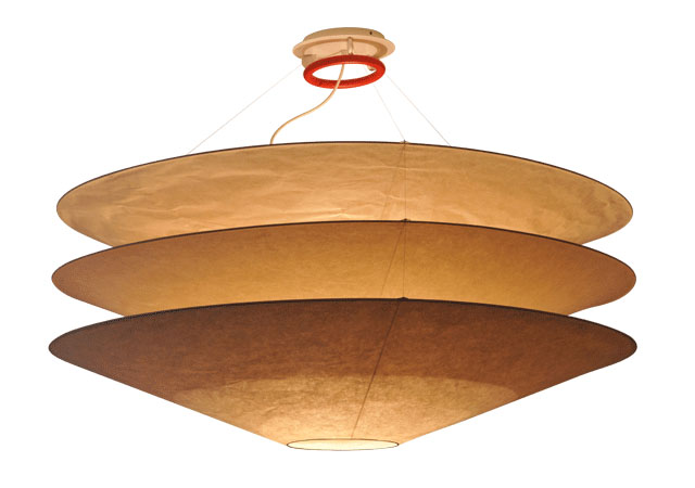 3 Level Large Japanese Paper Lantern Pendant Light Fixture