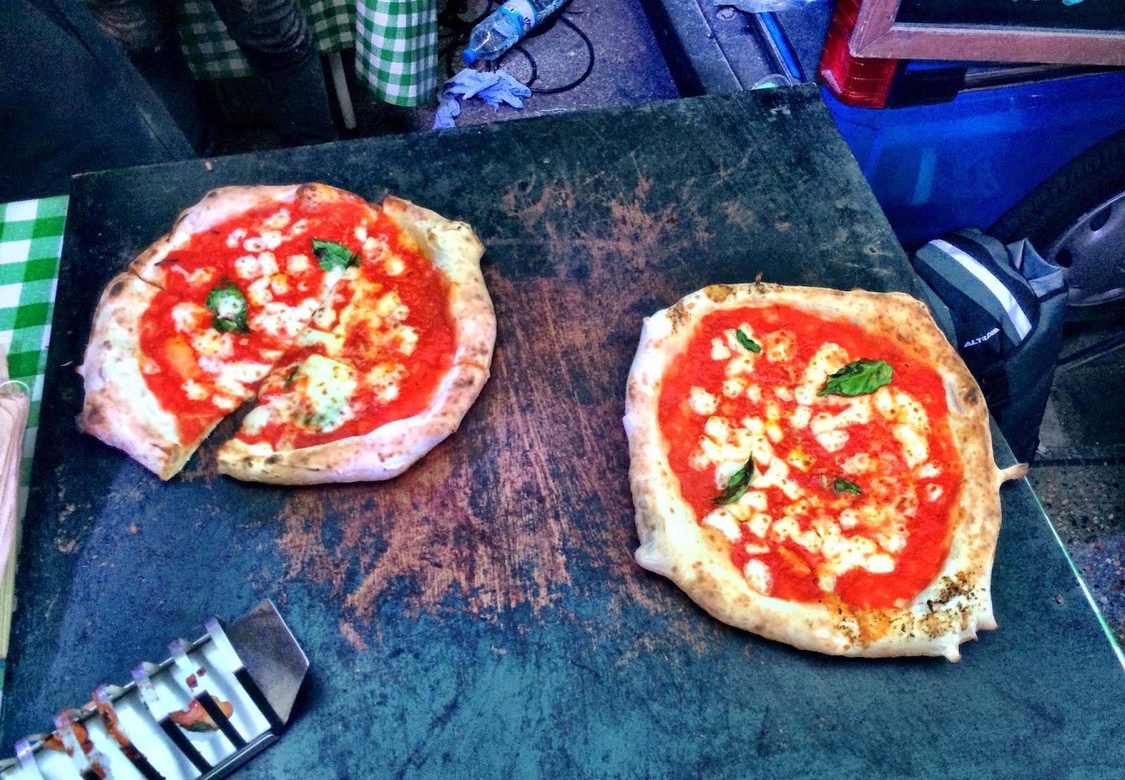 Pizza Pilgrim freshly cooked pizza