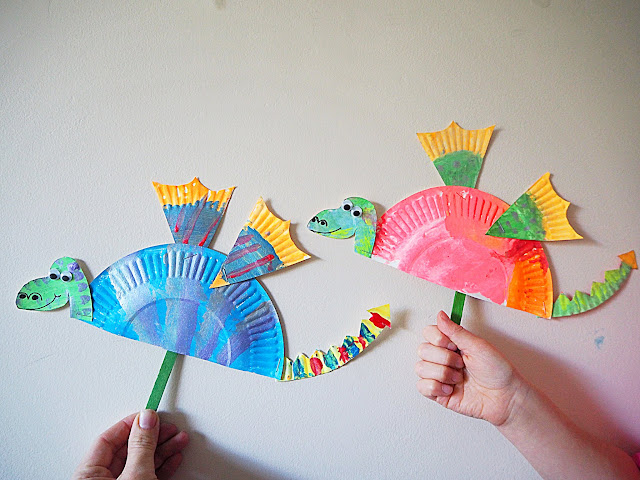 how to make a chinese dragon kite with paper plates