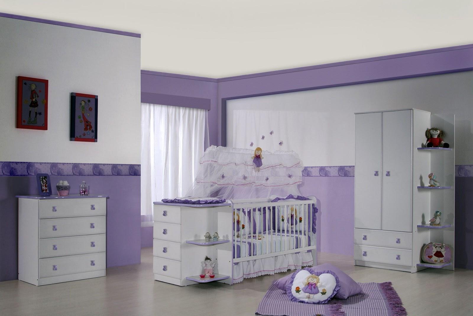 Totalmente Cor De Rosa ~ Quarto De Bebê Lilás Com Armario Quarto Medidas