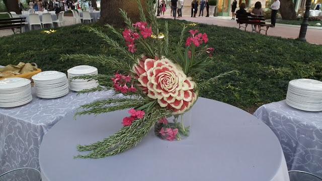 italian wedding watermelon art