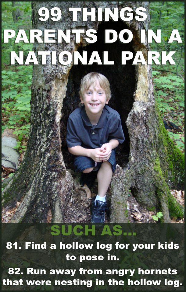 99 things parents are guaranteed to do in a National Park by Robyn Welling @RobynHTV