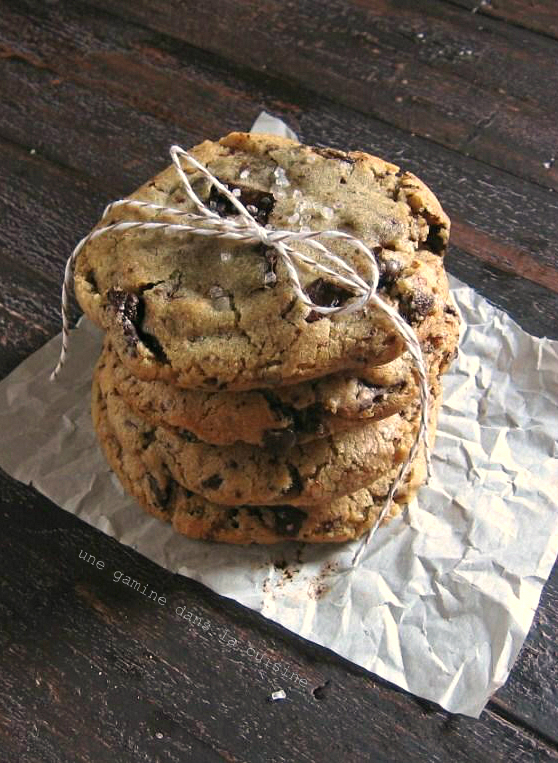 Ginger & Brown Butter Dark Chocolate Chunk Cookies | une gamine dans la cuisine