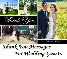 Thank You Gifts For Wedding Guests Gauteng : for wedding guests sample thank you note for wedding guests