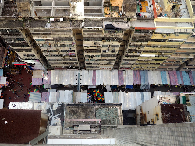 View of Ladies Market from above in Mong Kok, Kowloon, Hong Kong