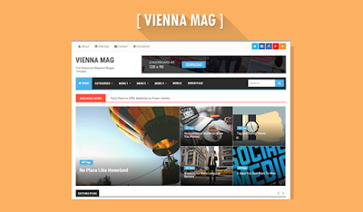 Vienna Mag blogger template