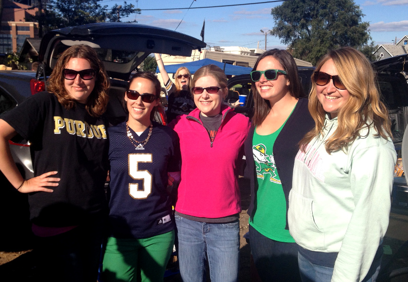 cozy birdhouse | notre dame vs. purdue game in indianapolis