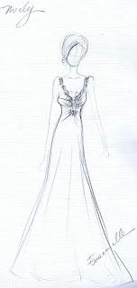 Desenhos Preto e Branco vestidos  Colorir