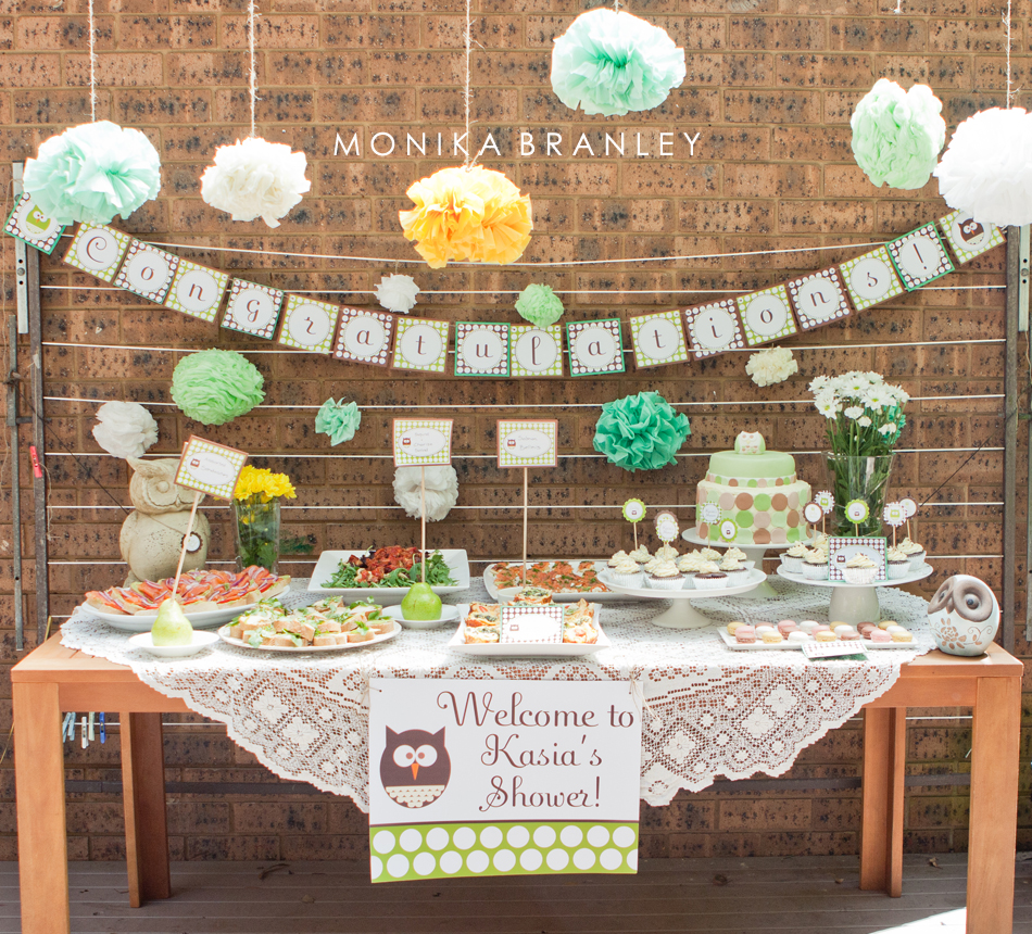 baby shower mint owl theme life baby baby showers parties