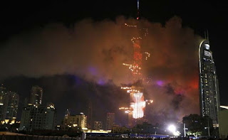 Dubai fire for 31st night fireworks celebration