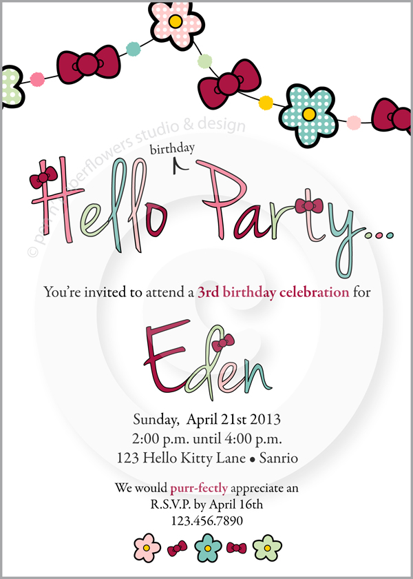 Pen paper flowers the shoppe new blooms bows birthday party ive had the honor of designing every single one of little edens birthday invitations and party accessories we used the little lady collection for edens stopboris Choice Image