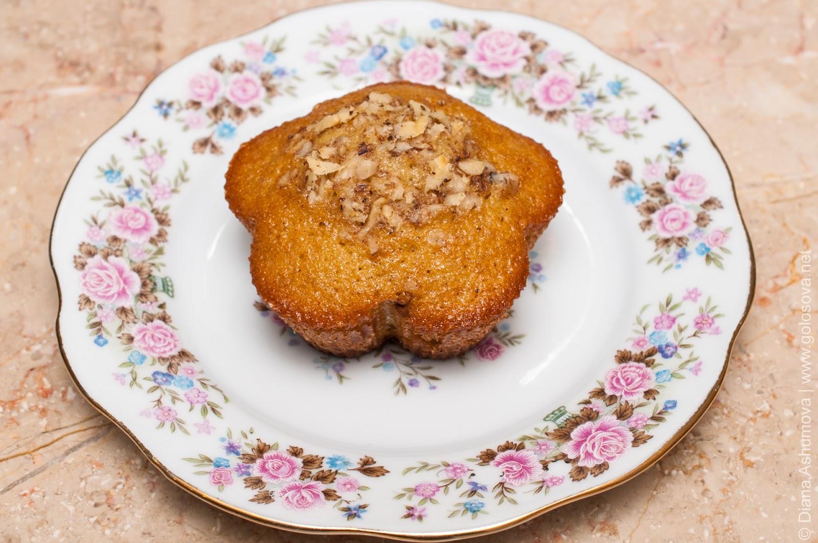 Кексы с грецкими орехами рецепт