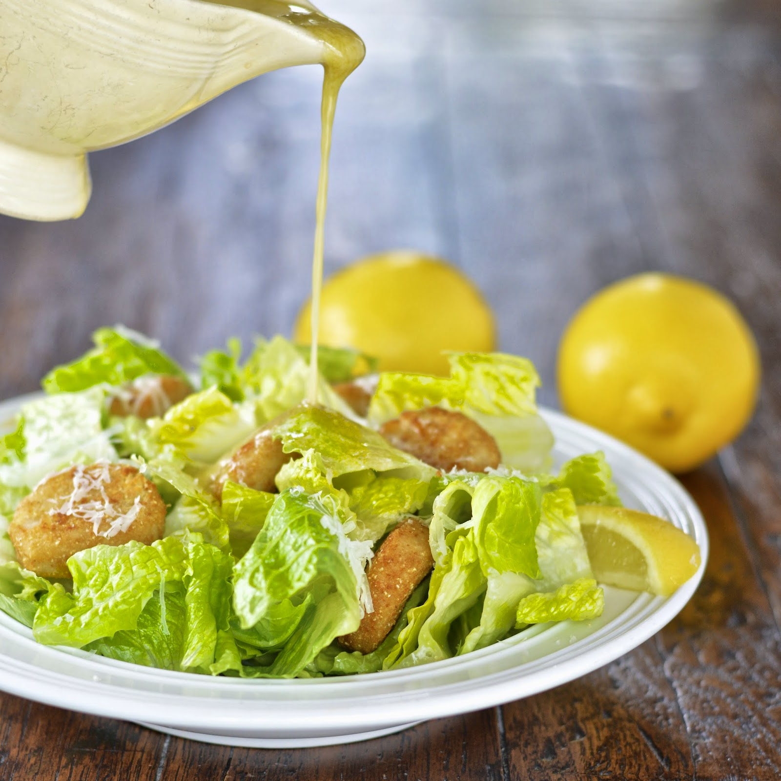 Easy Caesar Salad Dressing | Virtually Homemade: Easy Caesar Salad ...