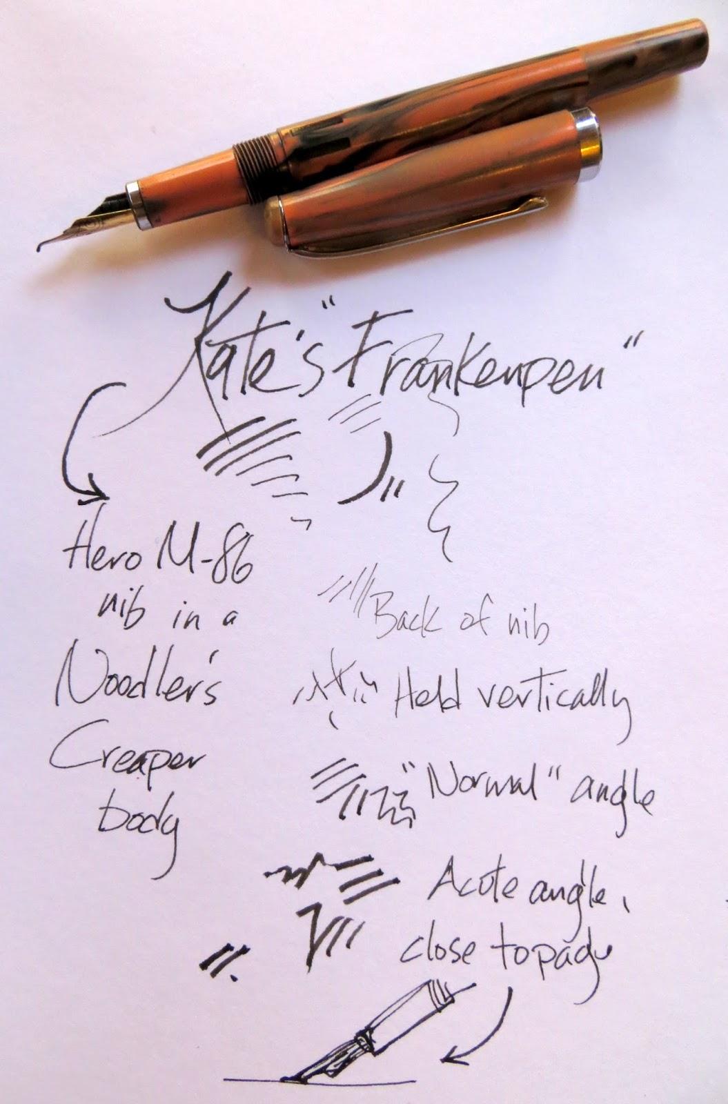Artists journal workshop sketching with bent nib