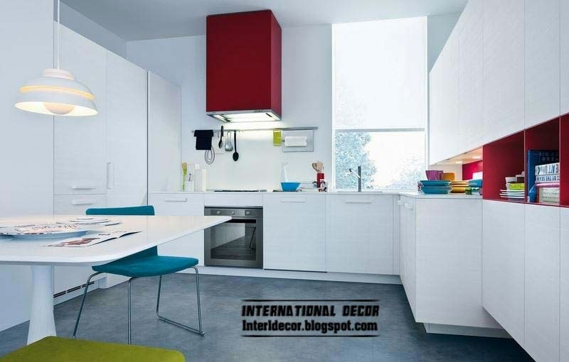 Red Teal Kitchen