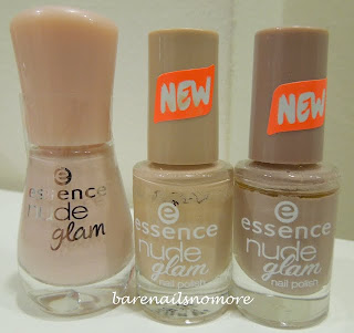 Essence Nude Glam comparisons Iced Latte, Toffee to Go, Cafe Ole