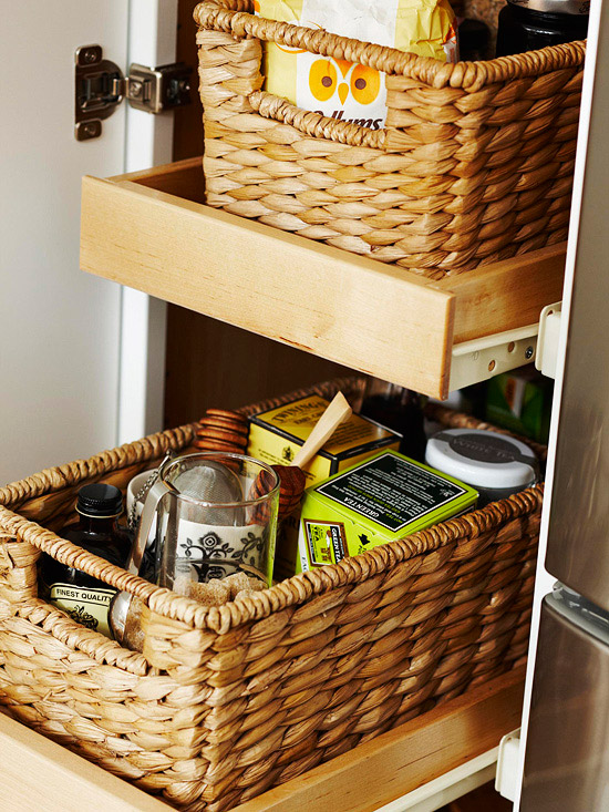 new ideas for storage solutions by using baskets modern