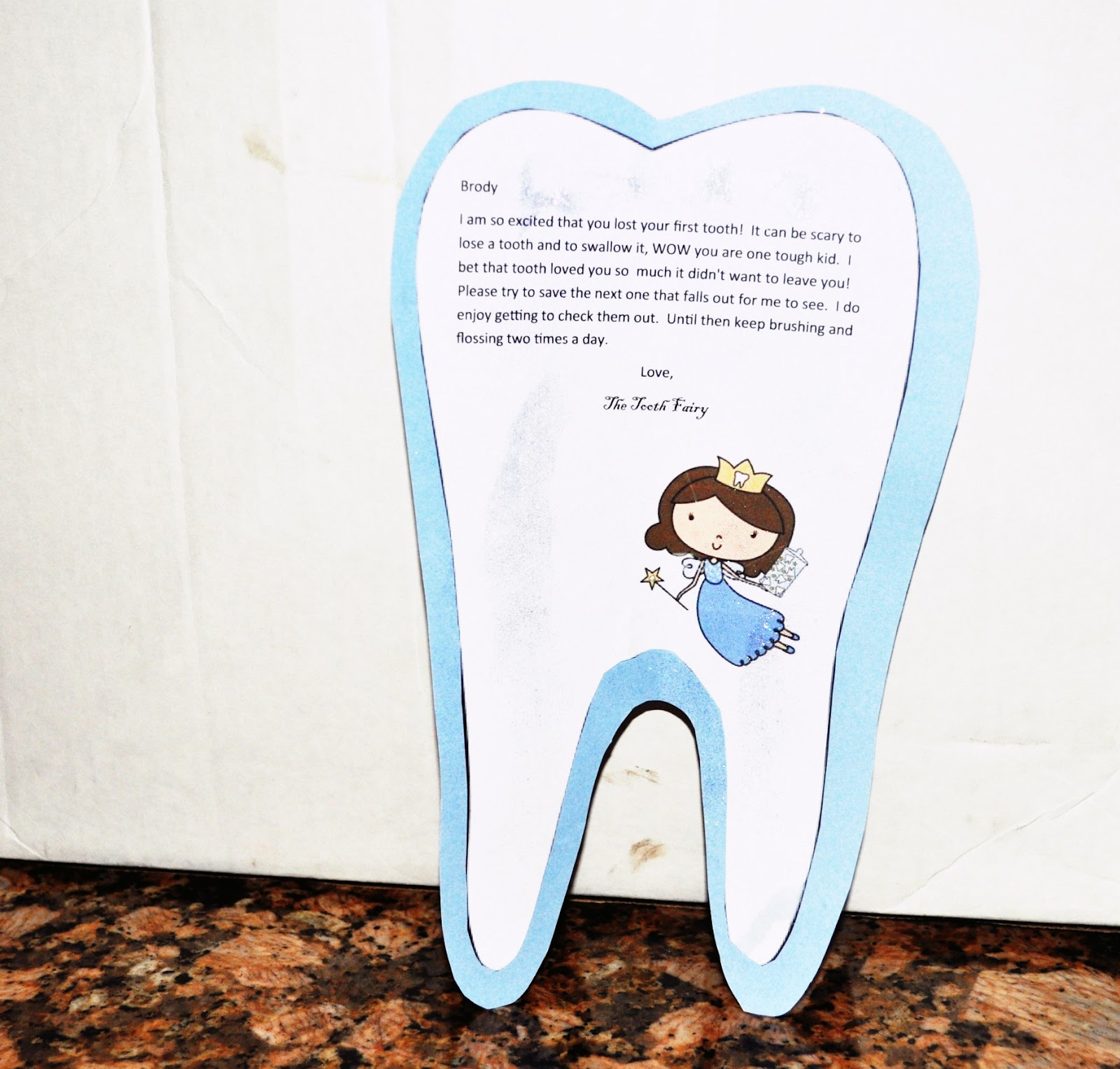 Swallowed Tooth Fairy Letter