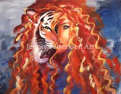 Tigrinnan, akryl 70 x 90 cm.