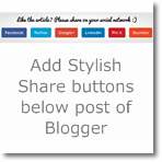 Add Stylish Post sharing widget below posts of Blogger