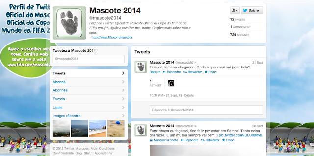 Compte Twitter de la mascotte officielle de la Coupe du Monde 2014