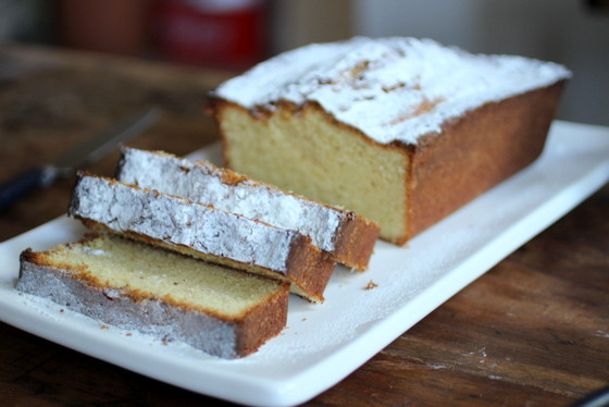 Brown Butter Pound Cake with Figs