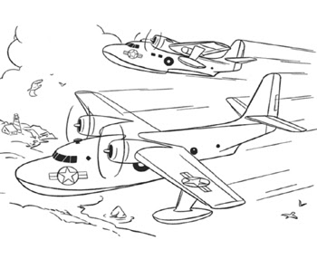 Printable Airplanes and Jets Coloring pages