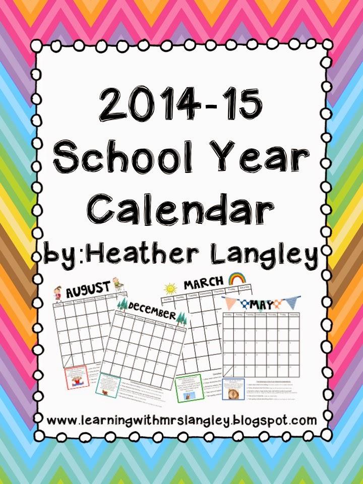 http://www.teacherspayteachers.com/Product/2014-15-School-Year-Calendar-with-Monthly-IB-Attitudes-293185