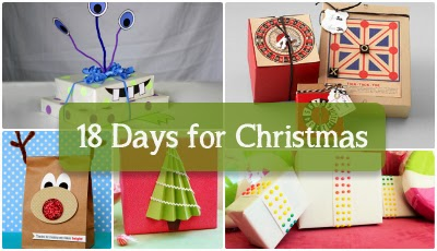 Misi Handmade In The Uk Christmas Countdown 18 Days Diy Kids Gift Wrap Ideas