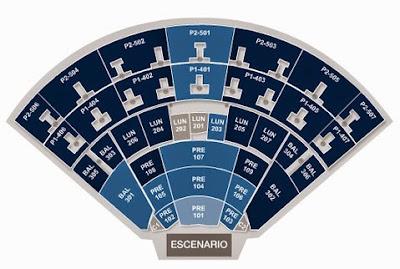 Mapa de Ubicacion del Auditorio Nacional en mexico y zona de boletos