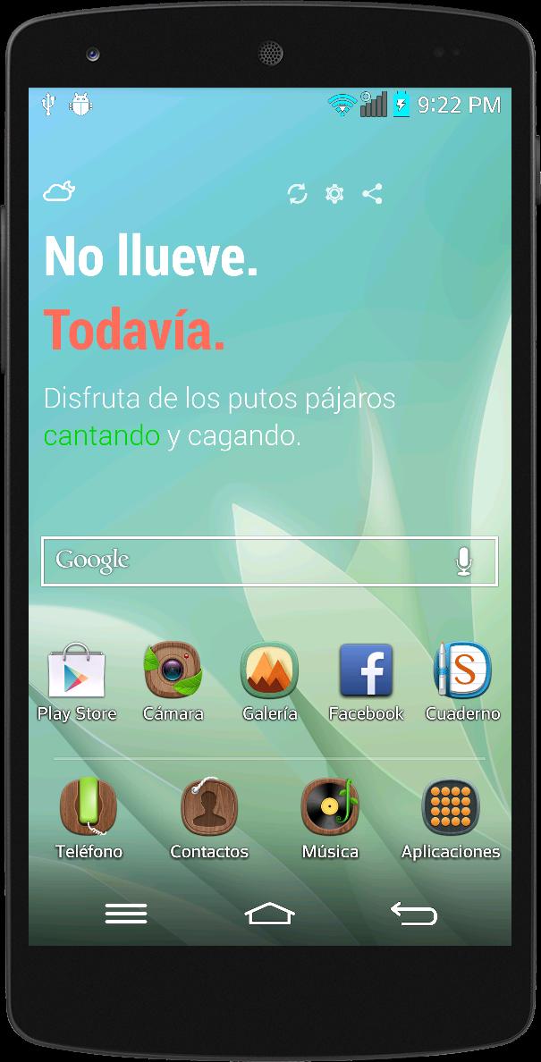 La casa del celular android fweather widget curioso for Widget tiempo android