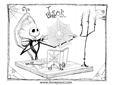 Nightmare Before Christmas Disney Coloring Pages