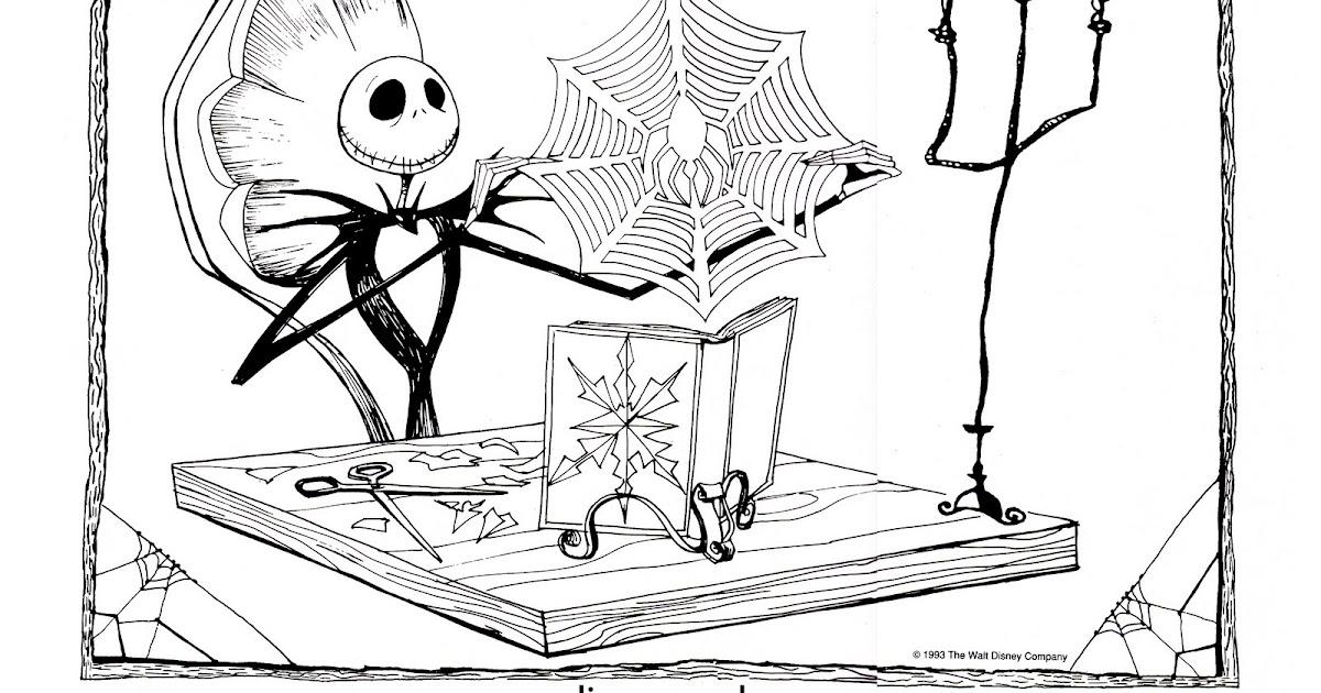 Dibujos de pesadilla antes de navidad para colorear – Navidad mágica ...