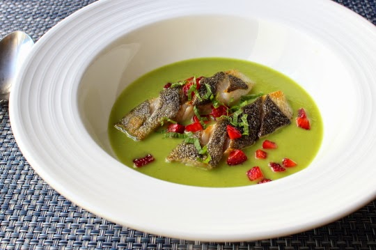 Spring Pea Green Curry with Black Cod and Strawberry – Channeling My Inner Spa Chef