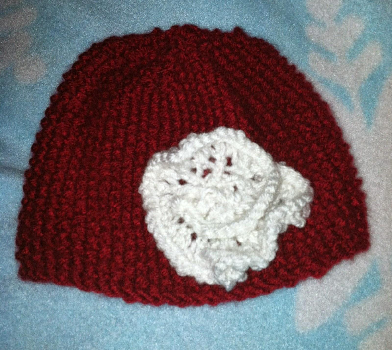 Roses Knitting Centre : Meg joins the navy knitting newborn baby hats diy roses