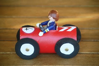 Recycling Toilet Rolls - race cars