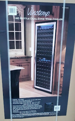 Vinotemp VT-155SBB 140 Bottle Dual Zone Wine Cooler – Store white and red wine separately