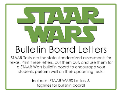 State of texas bulletin boards images diagram writing sample and this little teacher staar wars bulletin board designs texas download these staar wars bulletin board letters sciox Image collections