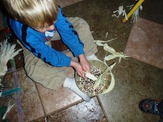Grinding Corn into Flour