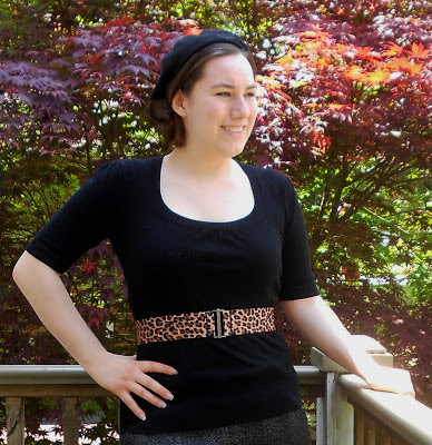 elastic belt vintage leopard print diy