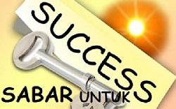 Sabar Untuk Sukses